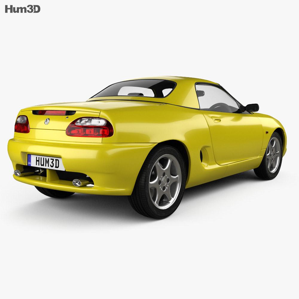 MG F 1999 3d model back view