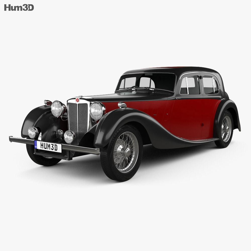 MG SA Saloon 1936 3d model