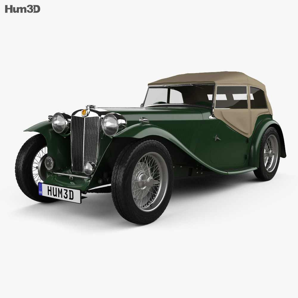 MG TC Midget 1945 3d car model