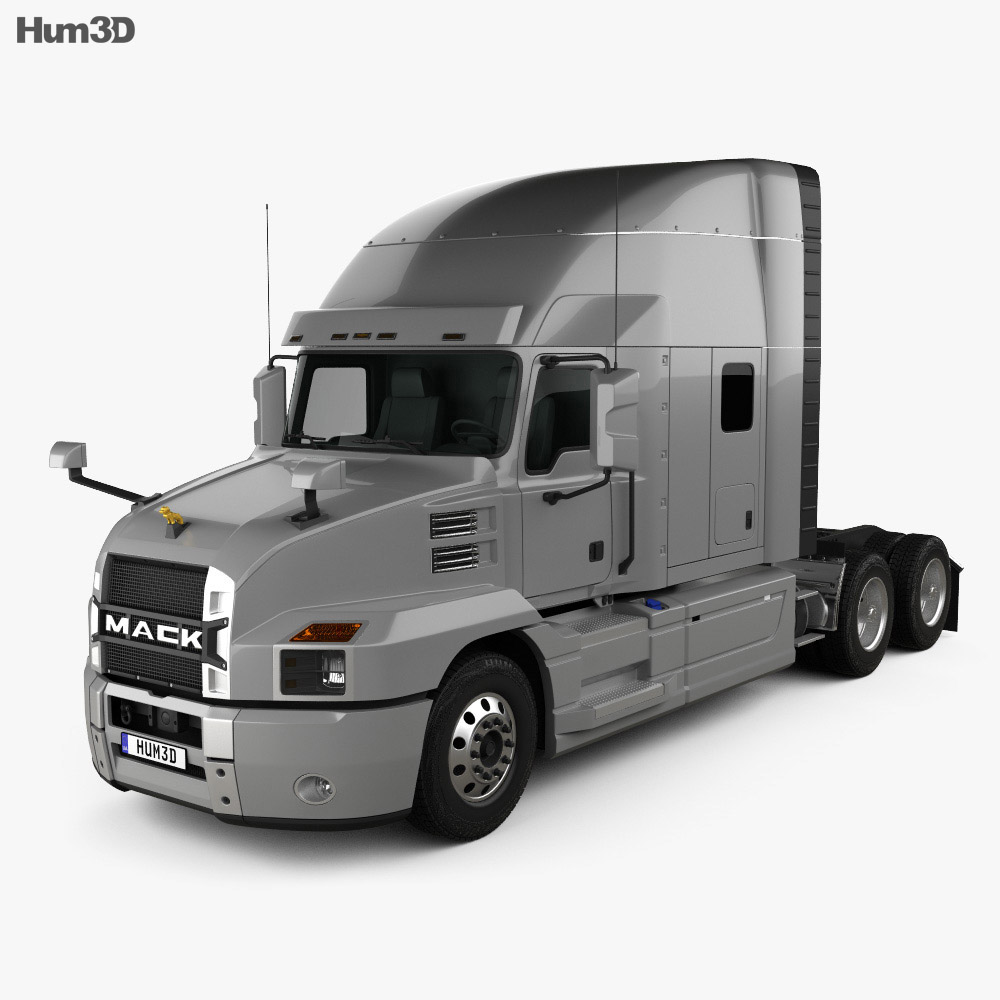Mack Anthem StandUp Sleeper Cab Tractor Truck 2018 3d model