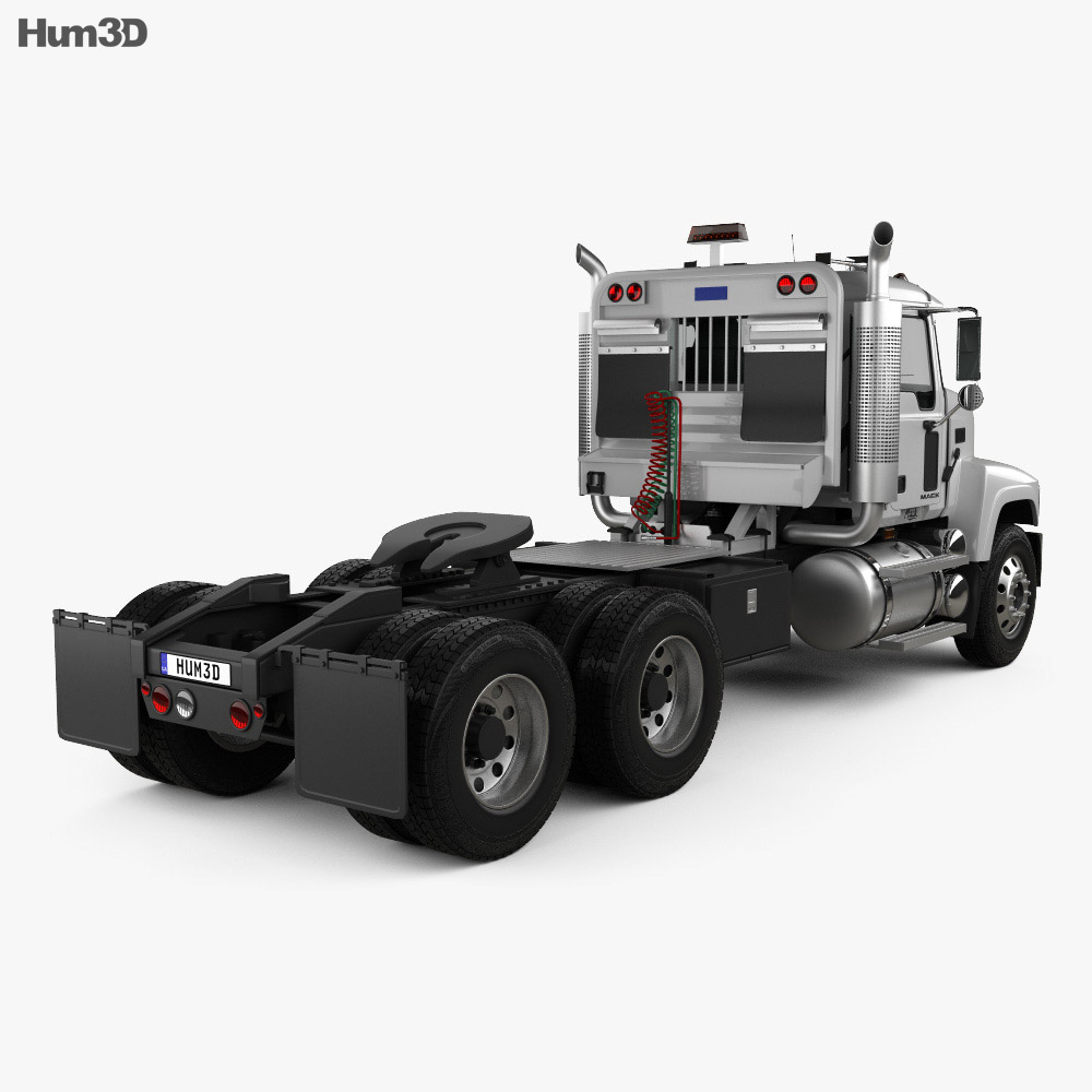 Mack CHN613 Day Cab Tractor Truck 2007 3d model