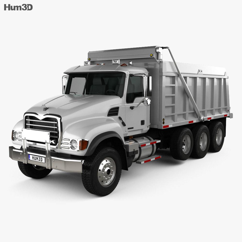 Mack Granite CV713 Dump Truck 2009 3d model