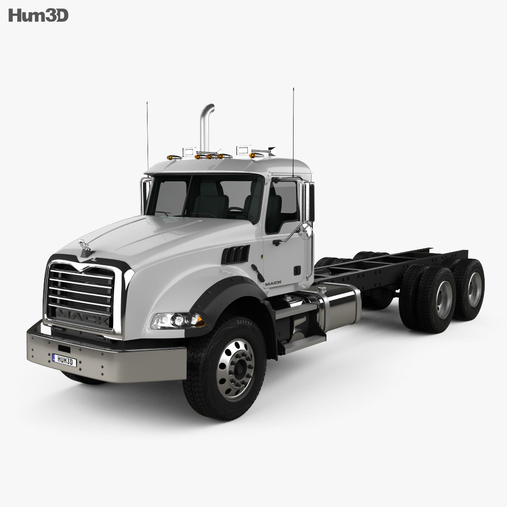 Mack Granite Chassis Truck 2002 3d model
