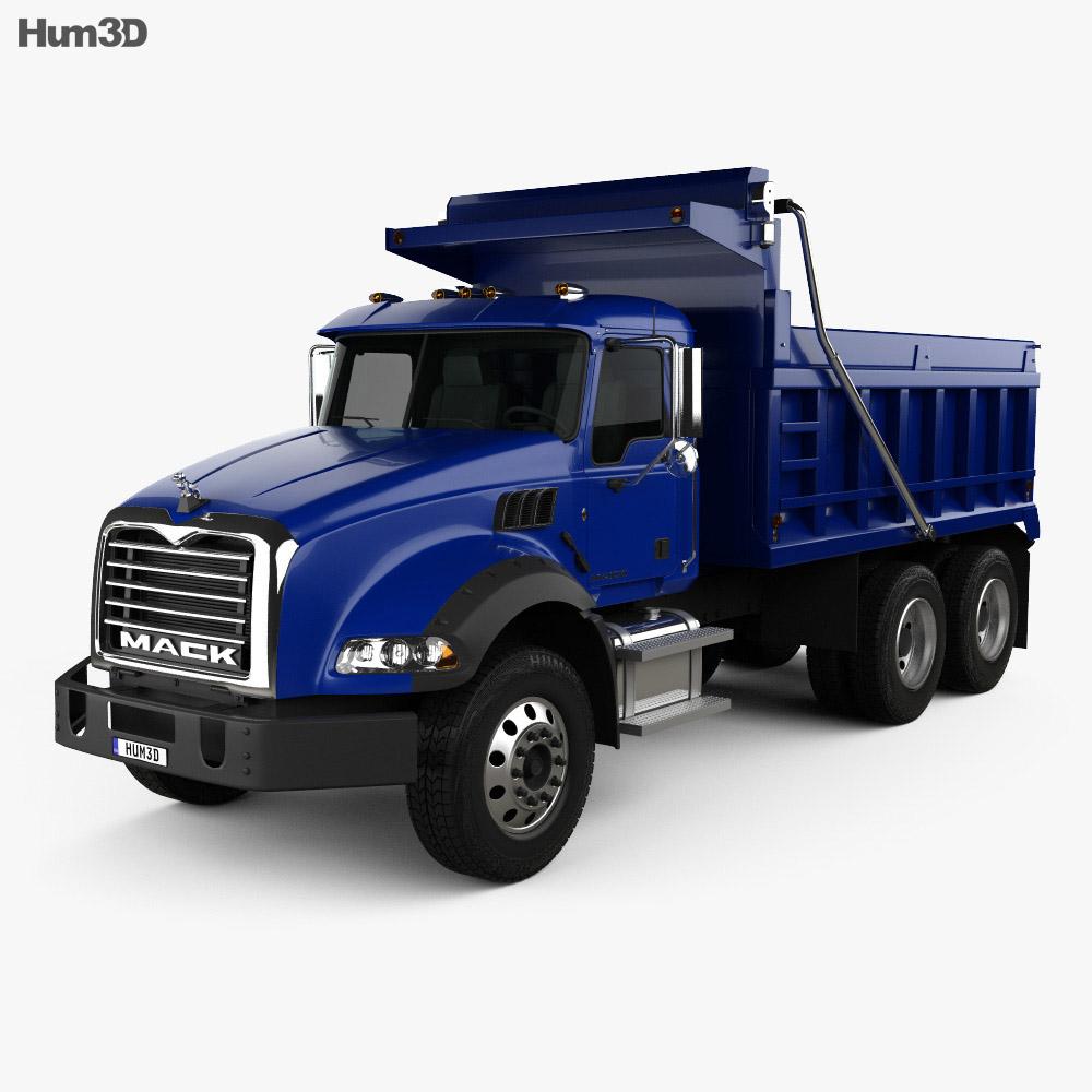 Mack Granite Dump Truck 2002 3d model