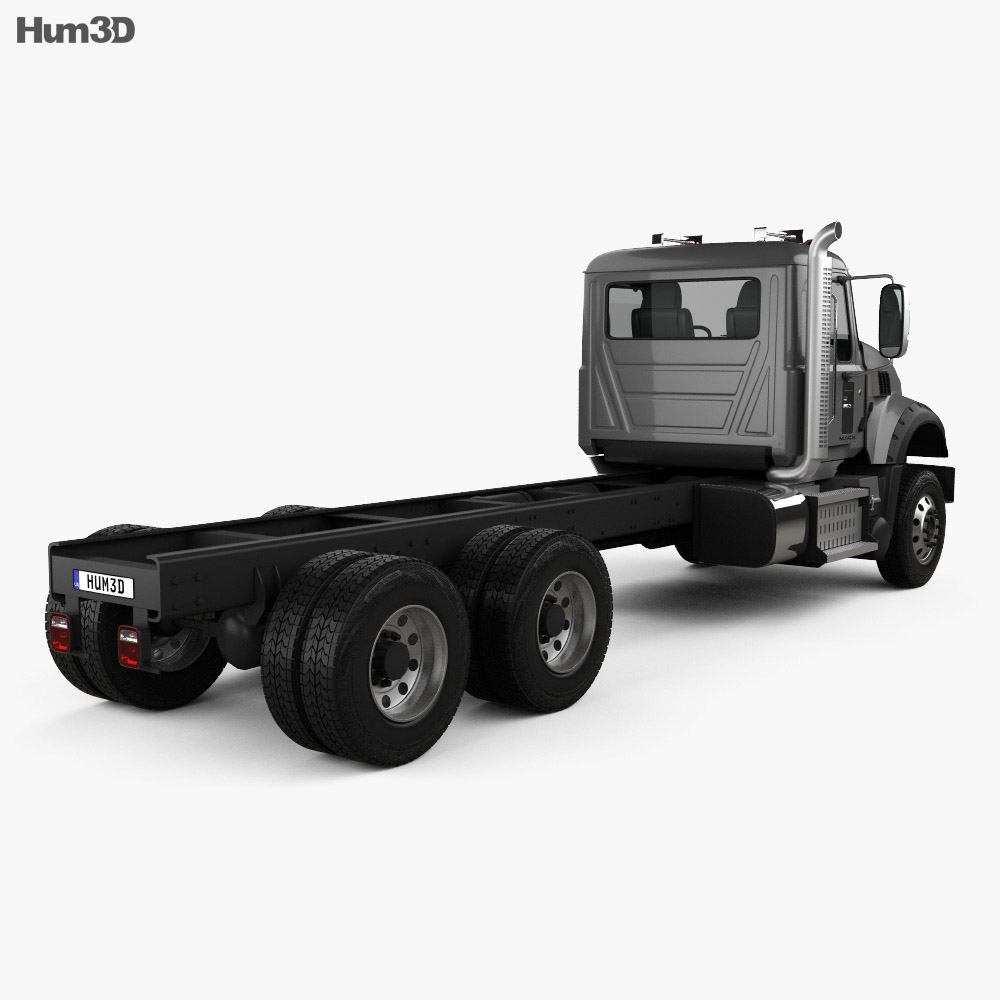 Mack Granite MHD Chassis Truck 2016 3d model