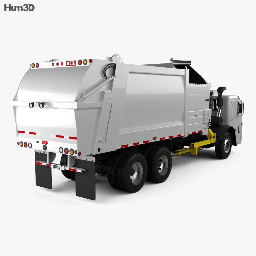 Mack LR LEU613 Garbage Truck Heil 2015 3d model