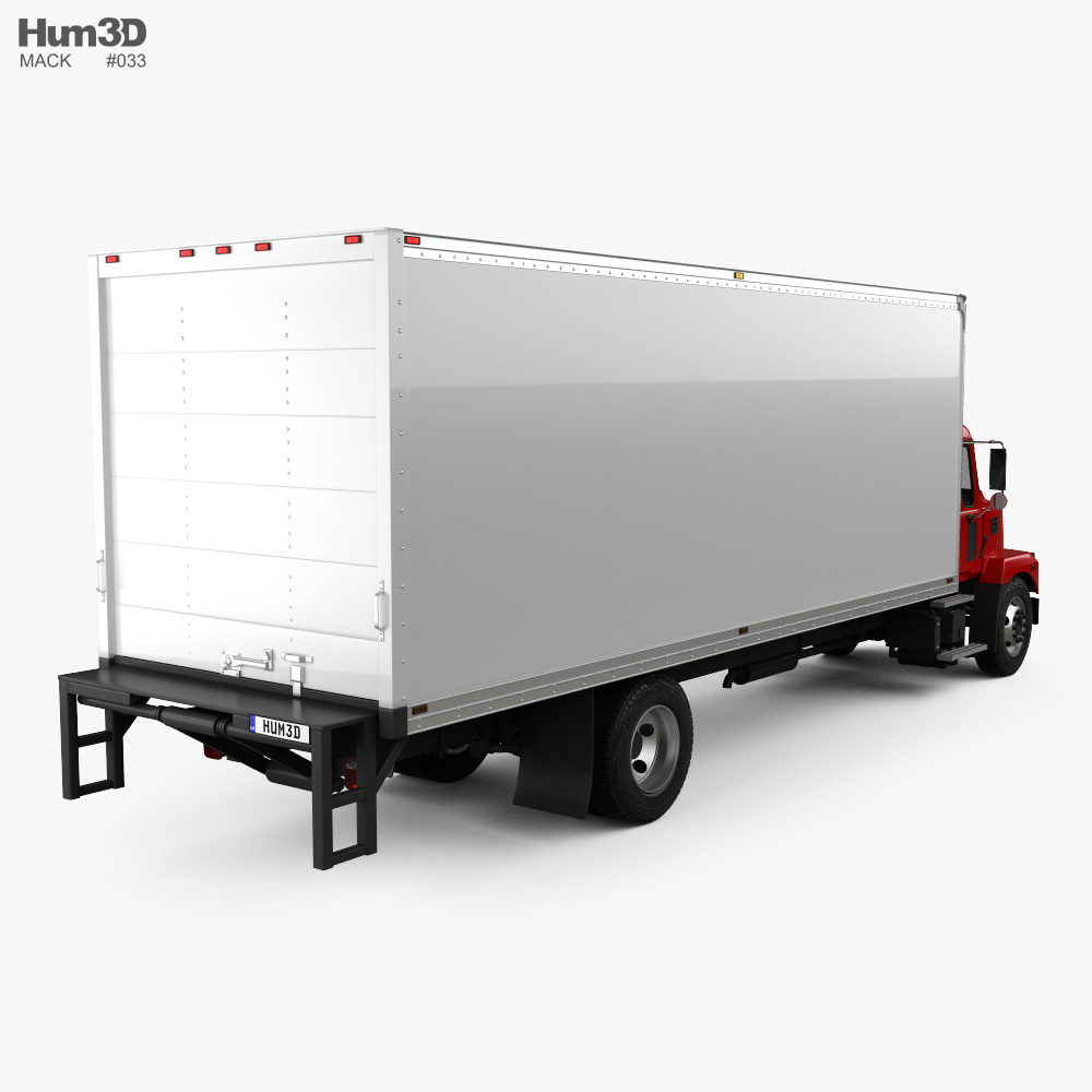 Mack MD Box Truck 2020 3d model