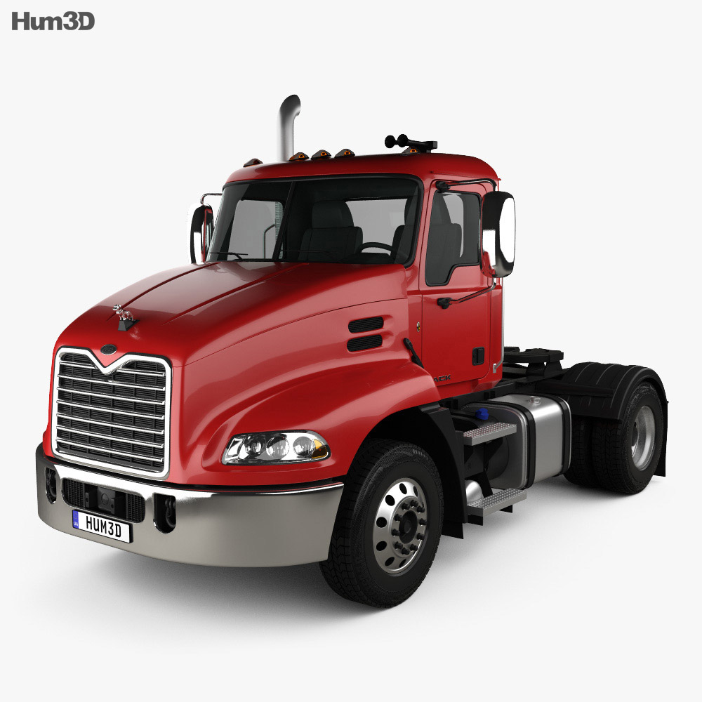 Mack Pinnacle Day Cab Tractor Truck 2011 3d model