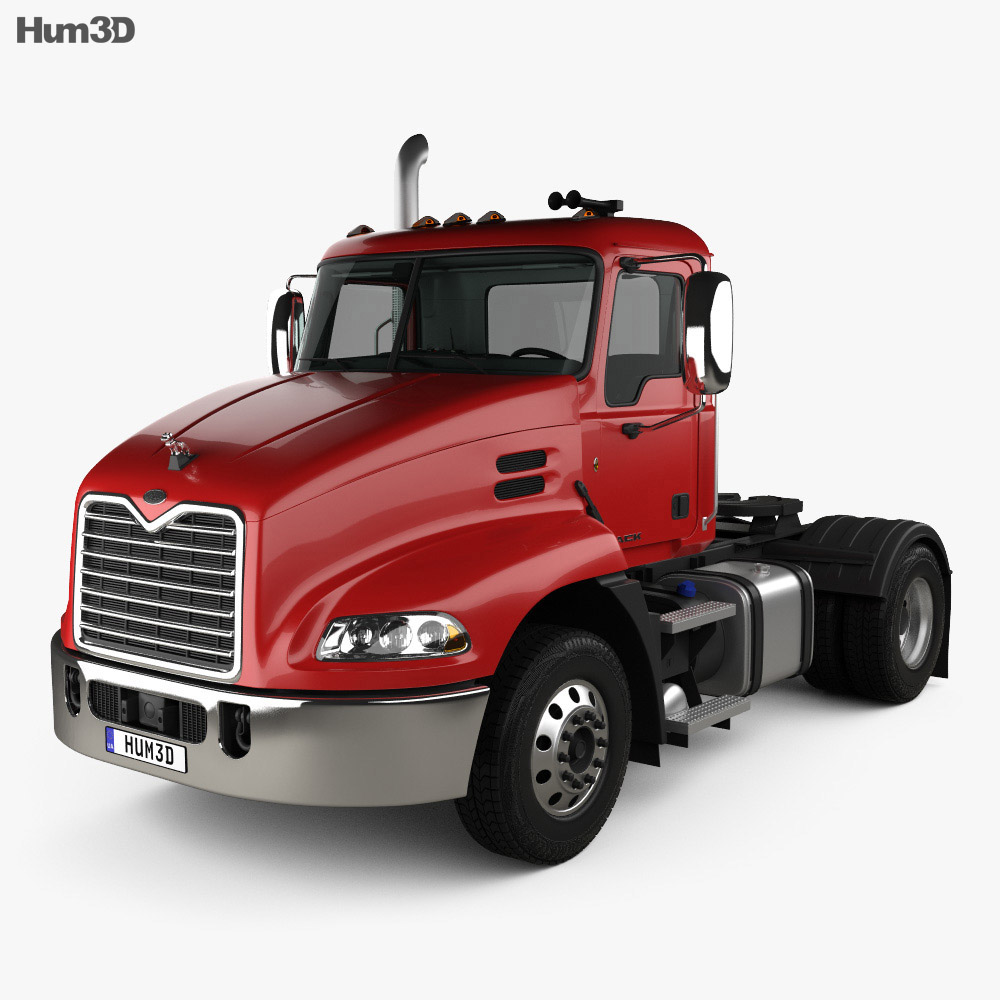 Mack Pinnacle Day Cab Tractor Truck with HQ interior 2011 3d model