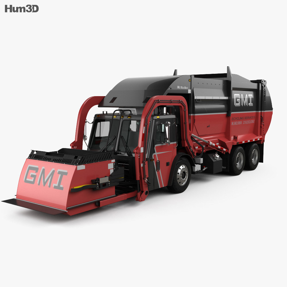 Mack TerraPro Mcneilus Garbage Truck 2016 3d car model