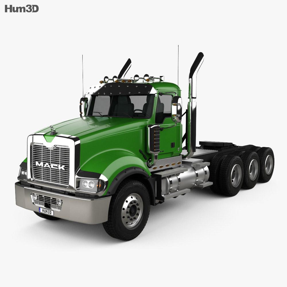 Mack Titan Tractor Truck 4axle 2007 3d model