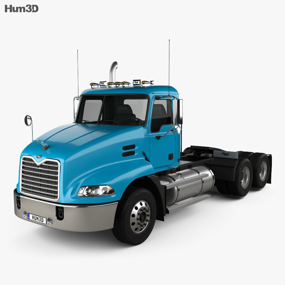 Mack Vision CXN613 Day Cab Tractor Truck 3-axle 2007 3d model