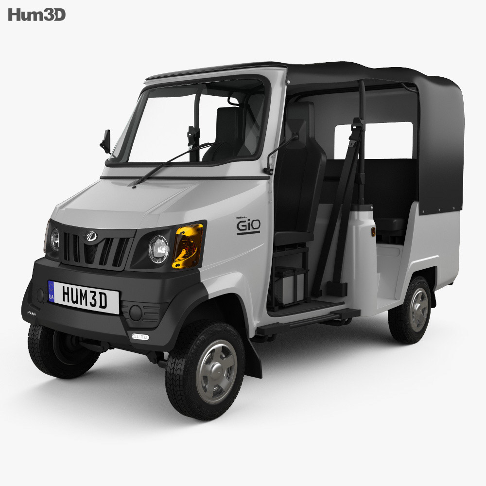 Mahindra Gio Compact Cab 2011 3d Model Humster3d
