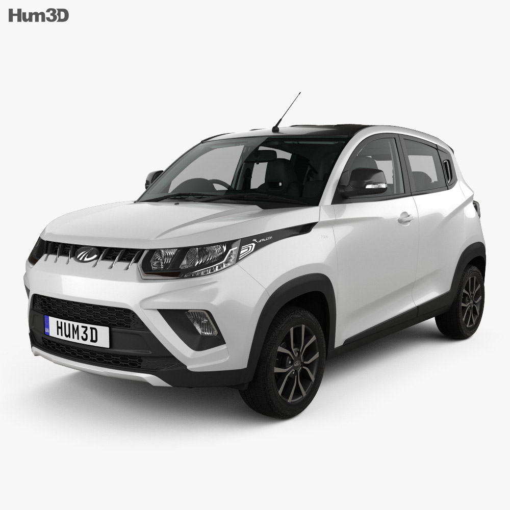 Mahindra KUV 100 with HQ interior 2018 3d model