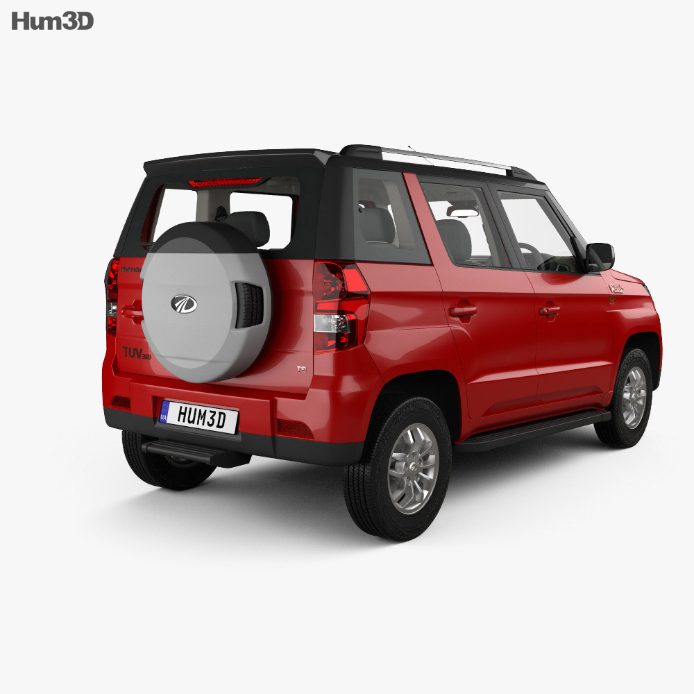 Mahindra TUV300 with HQ interior 2015 3d model