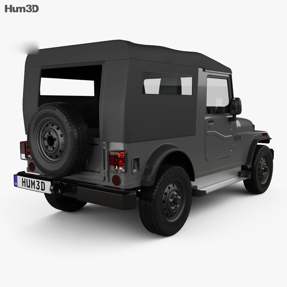 Mahindra Thar 2010 3d model