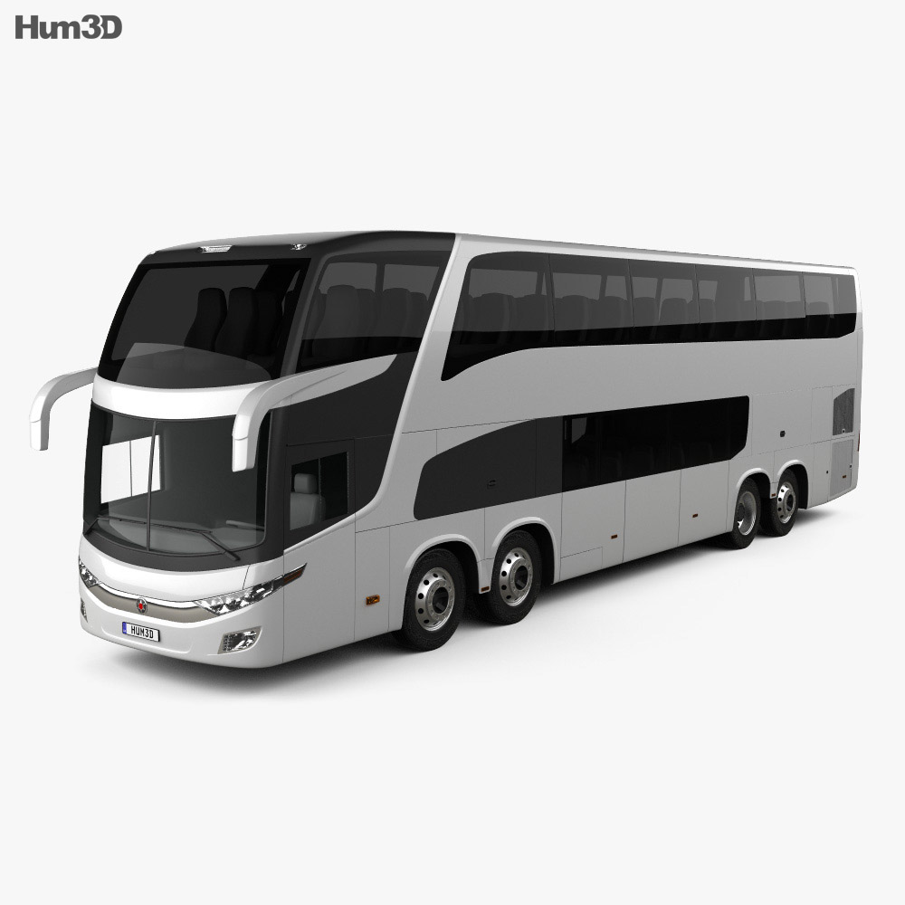Marcopolo Paradiso G7 1800 DD 4-axle Bus 2017 3d model