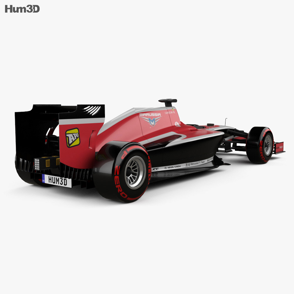 Marussia MR03 2014 3d model