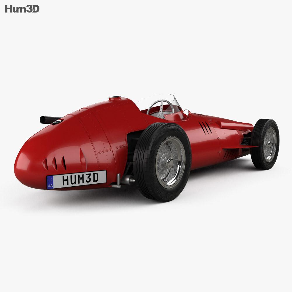 Maserati 250F 1954 3Dモデル 後ろ姿