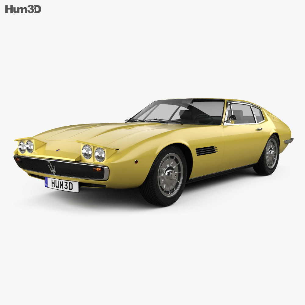 Maserati Ghibli coupe 1967 3d model