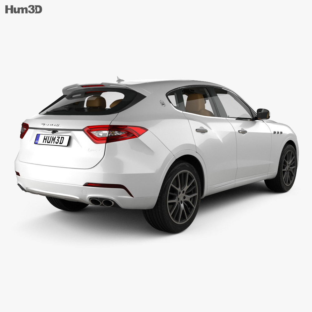 Maserati Levante with HQ interior 2017 3d model