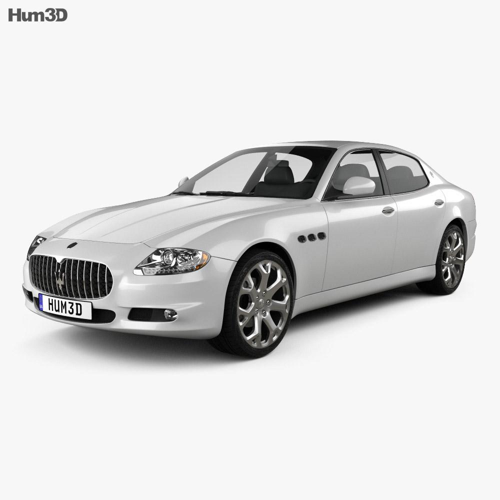 maserati quattroporte 2011 3d model vehicles on hum3d. Black Bedroom Furniture Sets. Home Design Ideas