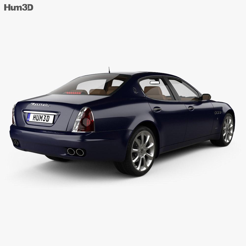 Maserati Quattroporte with HQ interior 2004 3d model
