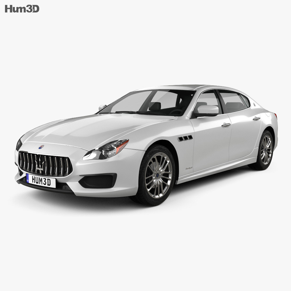 maserati quattroporte gts gran sport 2017 3d model vehicles on hum3d. Black Bedroom Furniture Sets. Home Design Ideas