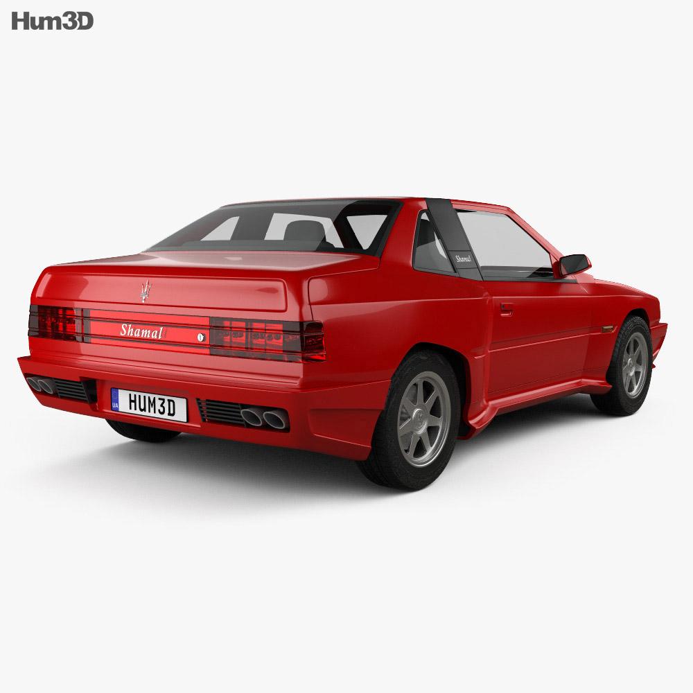 Maserati Shamal 1990 3d model
