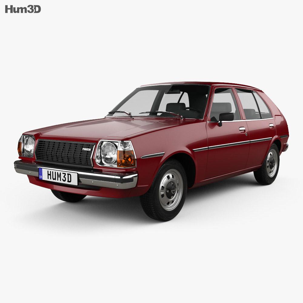 Mazda 323 (Familia) 1978 3d model