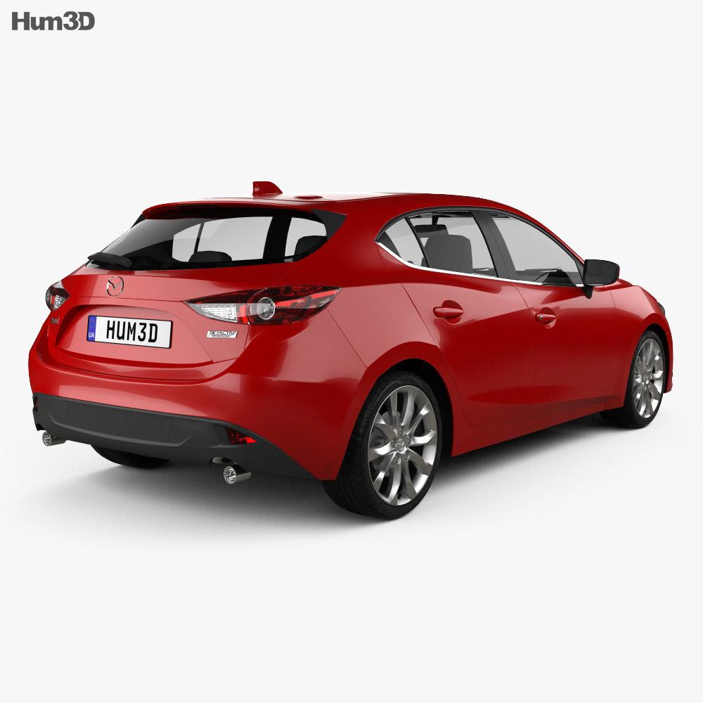 Mazda 3 hatchback 2014 3d model