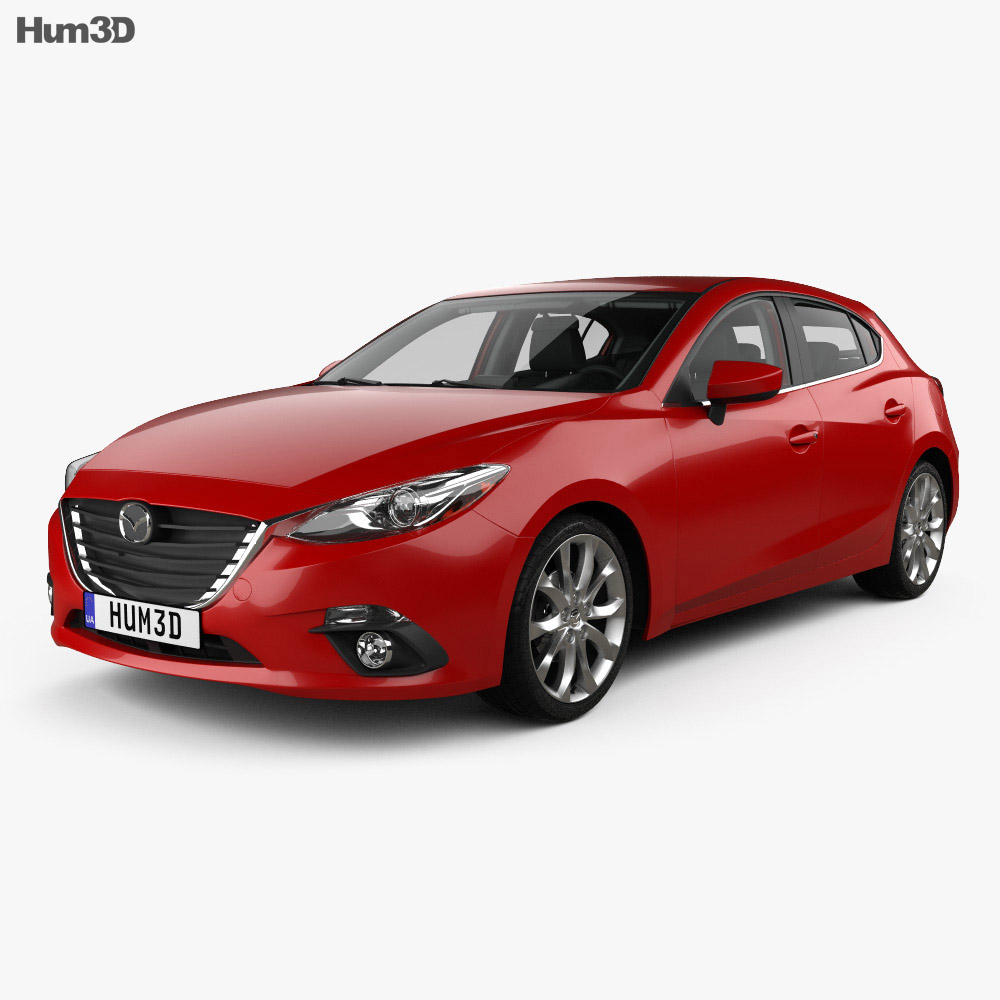 Mazda 3 hatchback with HQ interior 2014 3d model