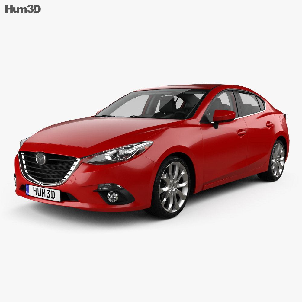 Mazda 3 sedan with HQ interior 2013 3d model