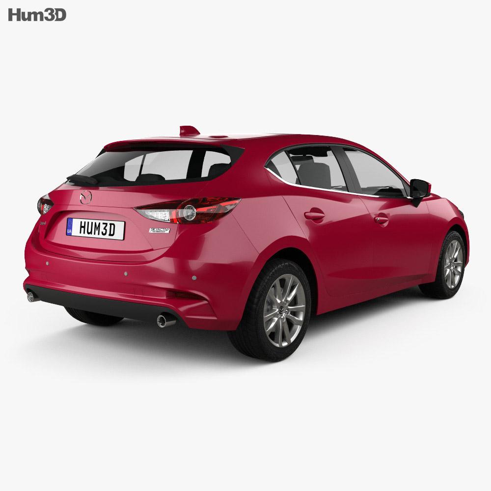 Mazda 3 BM hatchback 2017 3d model
