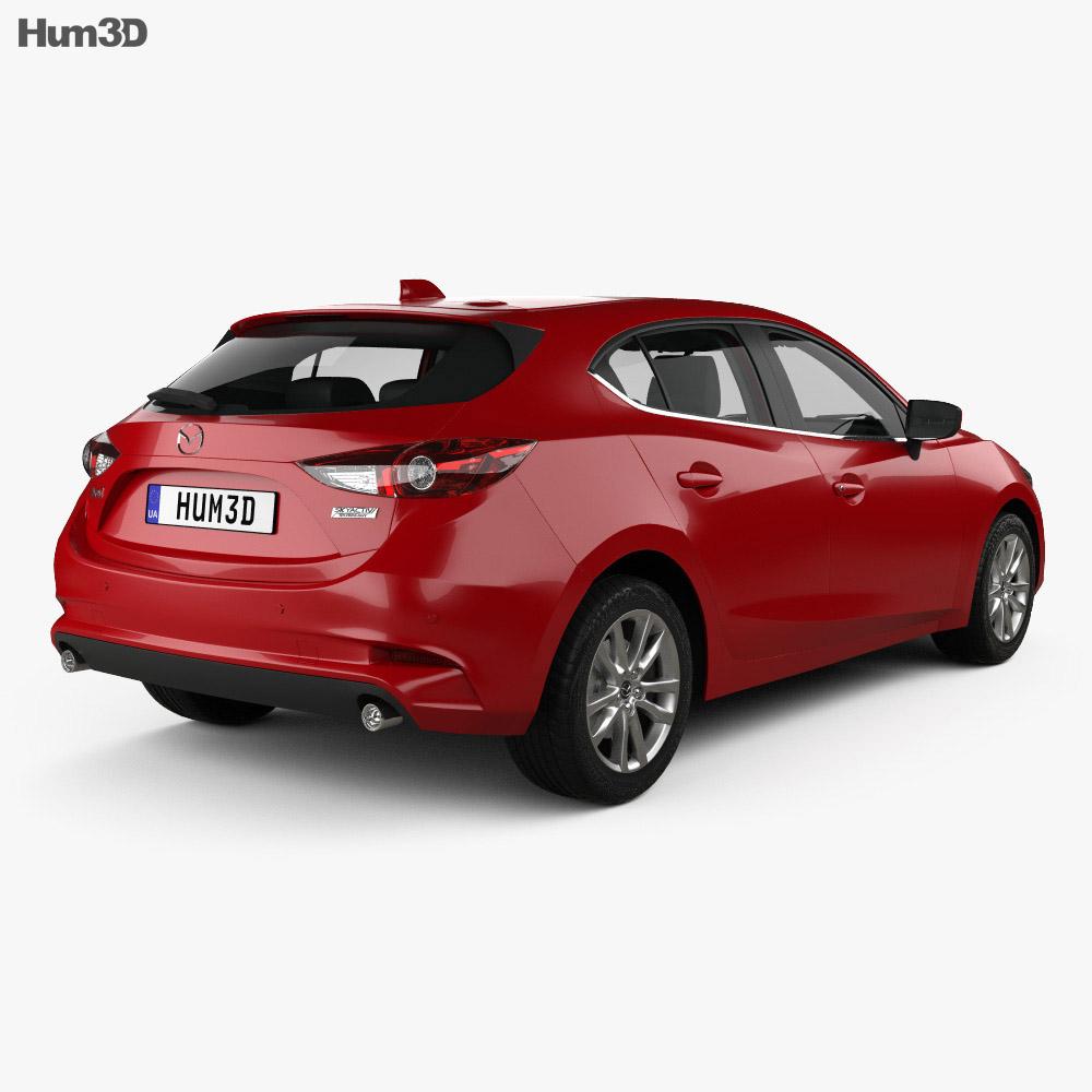 Mazda 3 (BM) hatchback with HQ interior 2017 3d model