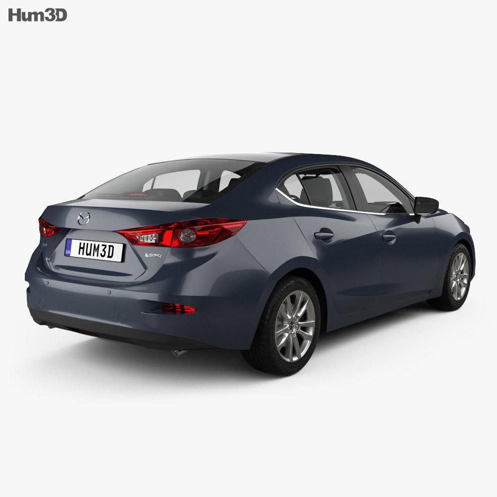 Mazda 3 (BM) sedan with HQ interior 2017 3d model