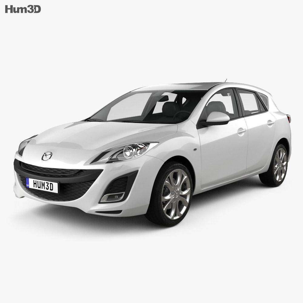Mazda 3 hatchback 2011 3d model