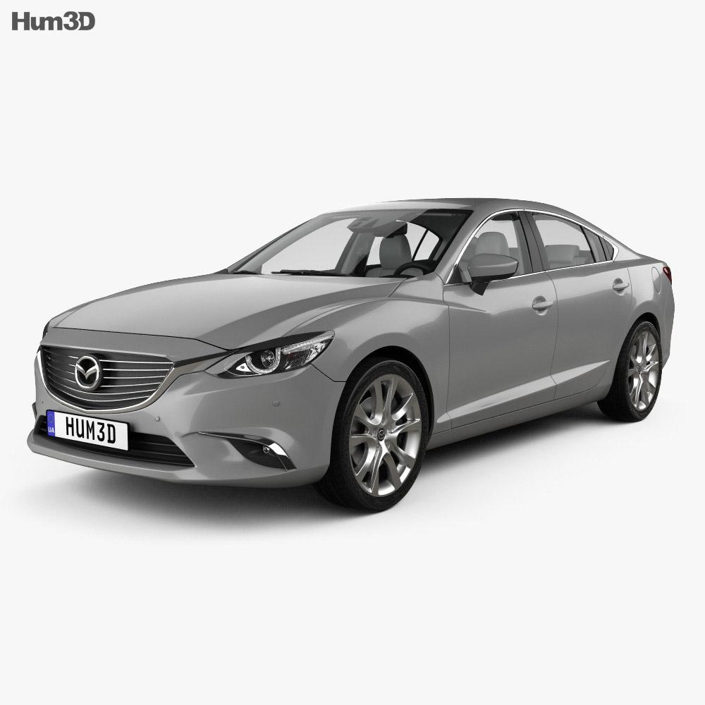 Mazda 6 GJ sedan with HQ interior 2015 3d model