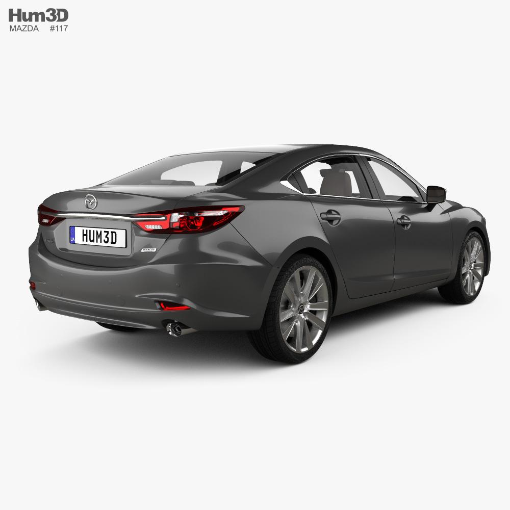 Mazda 6 sedan with HQ interior 2018 3d model