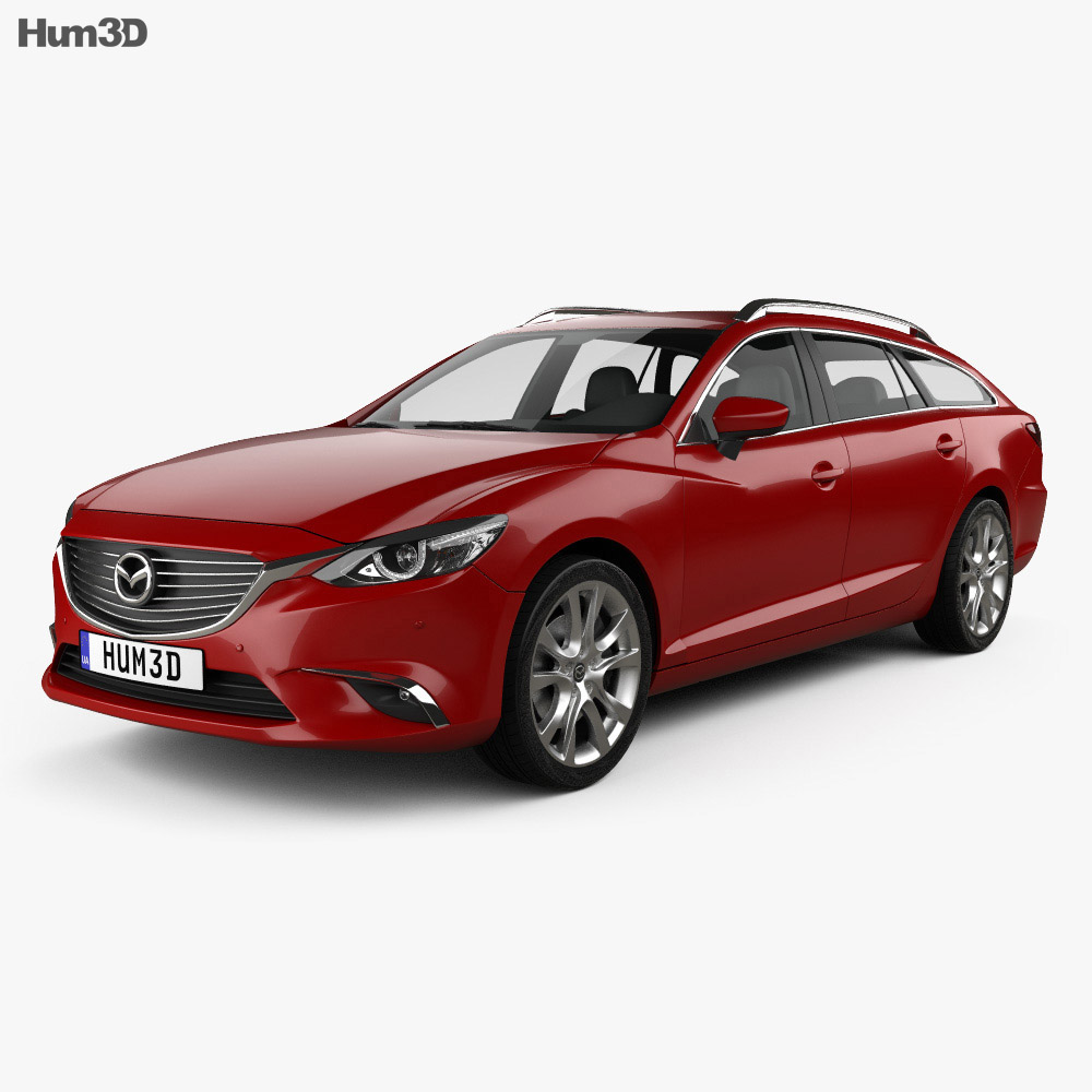 Mazda 6 GJ wagon 2015 3d car model