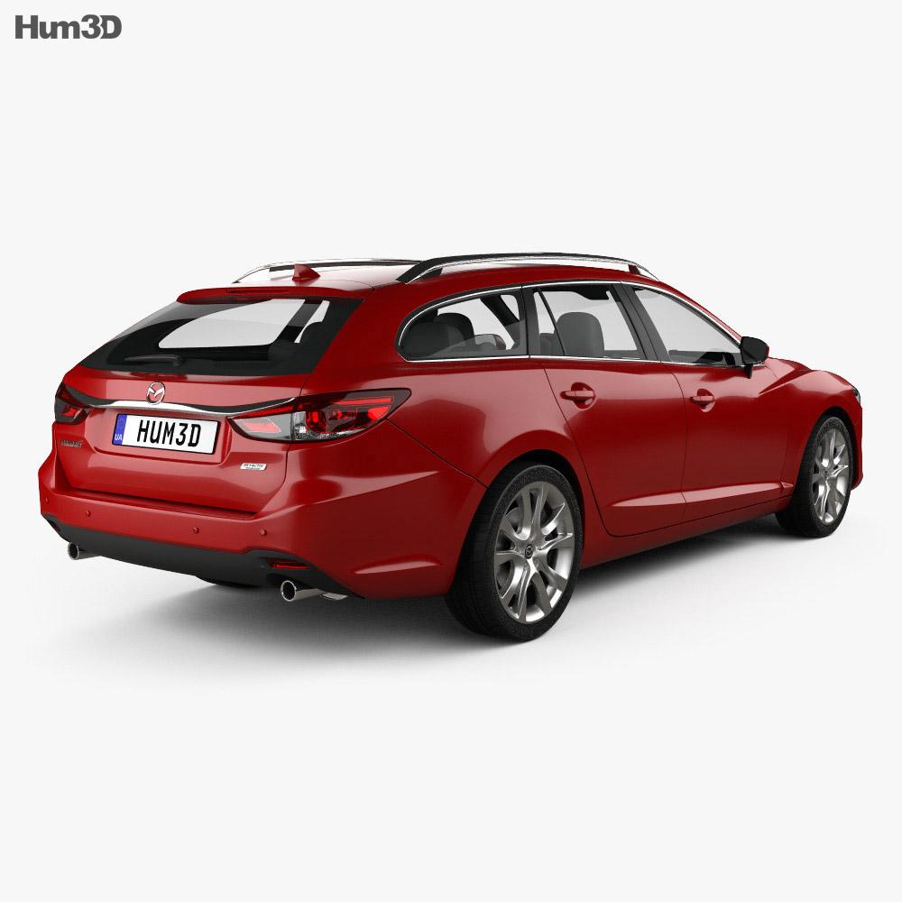 mazda 6 gj wagon 2015 3d model humster3d