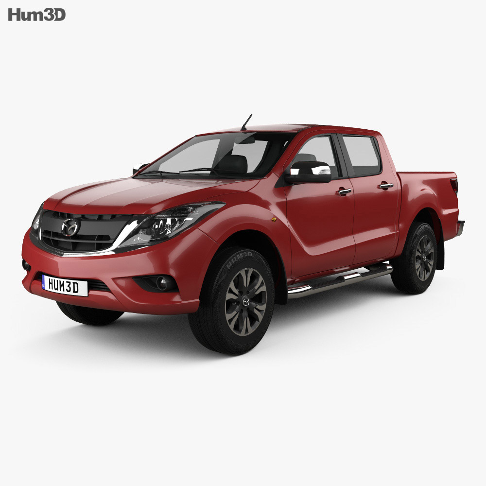 Mazda Bt 50 Double Cab 2016 3d Model Humster3d