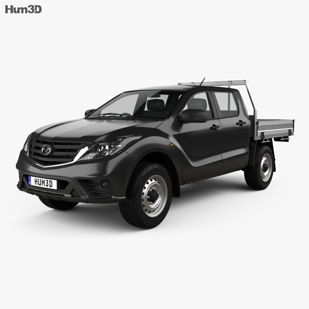 Mazda BT-50 Dual Cab AlloyTray 2018 3d model
