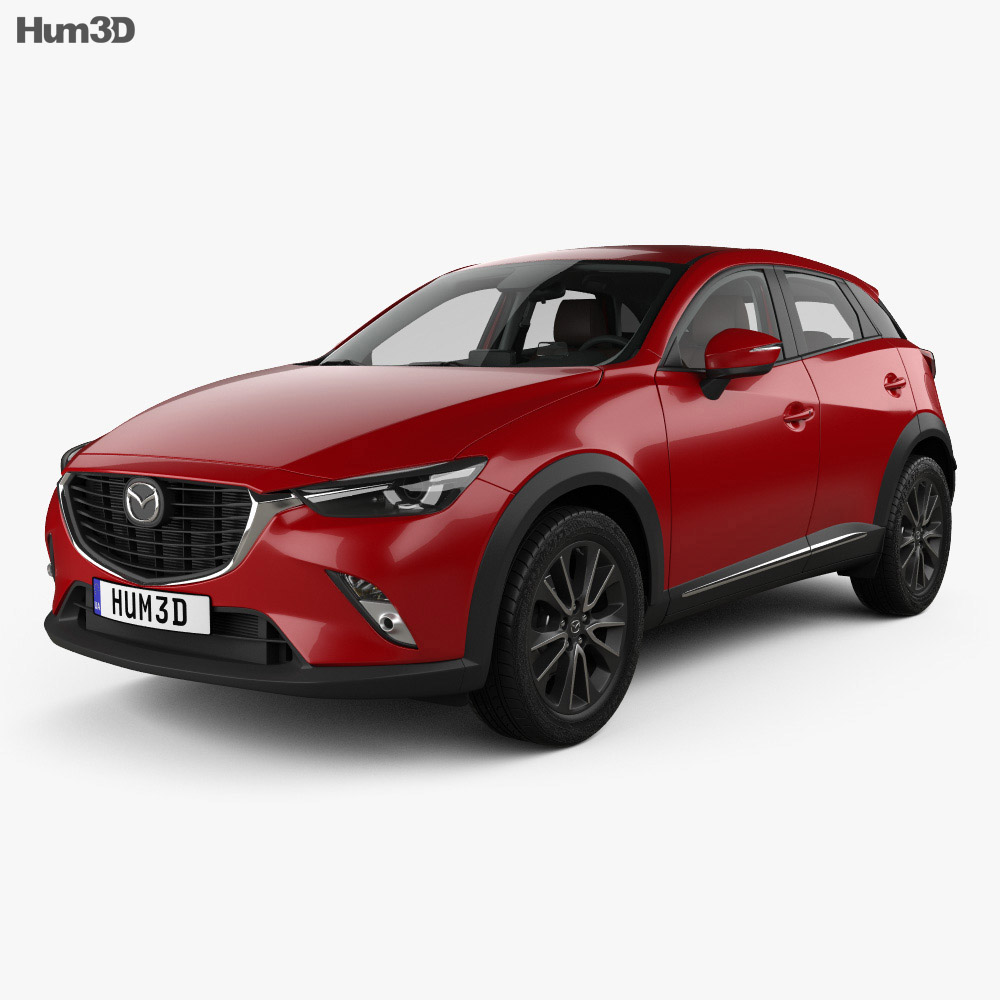 Mazda CX-3 GT-M with HQ interior 2016 3d model
