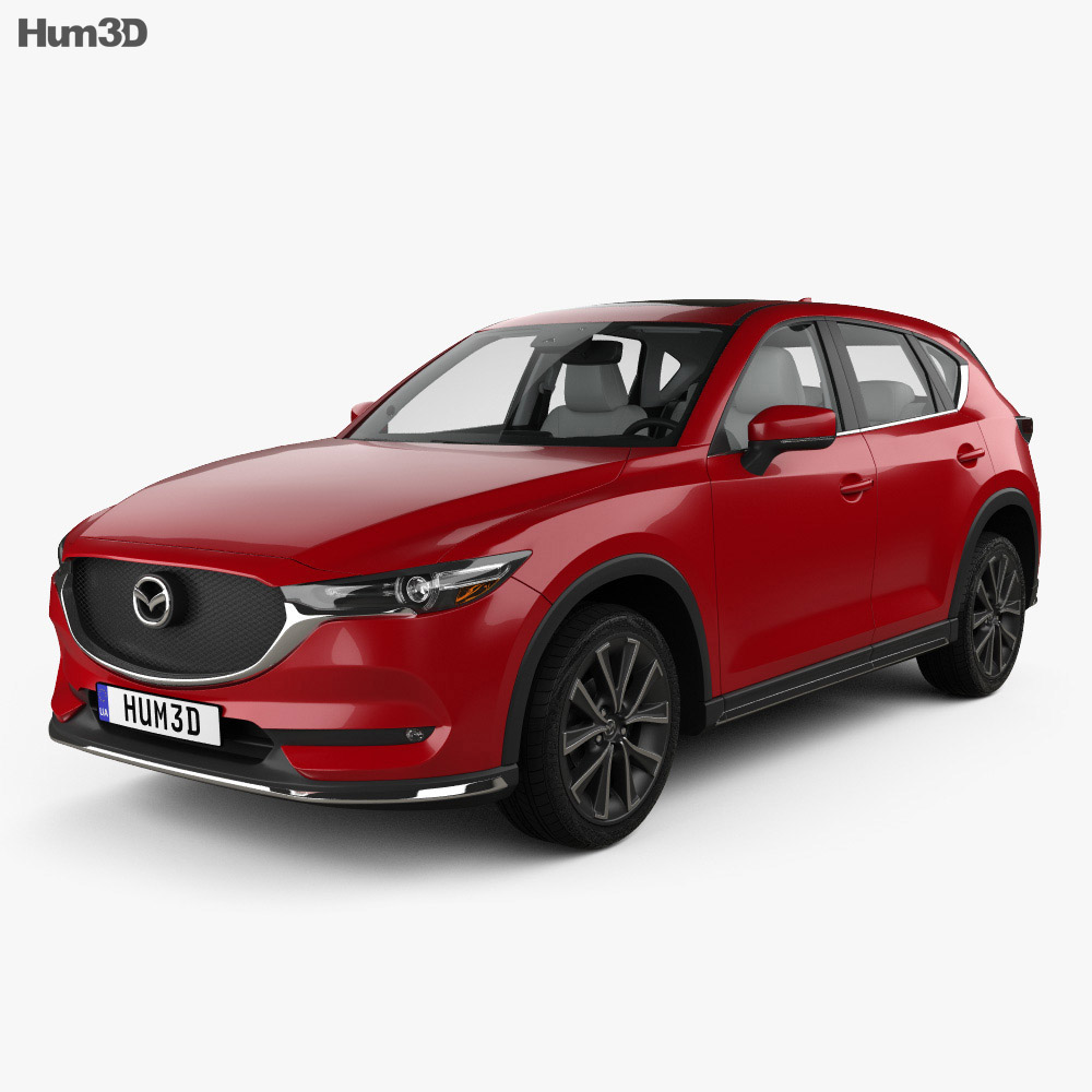 mazda cx 5 kf with hq interior 2017 3d model hum3d. Black Bedroom Furniture Sets. Home Design Ideas