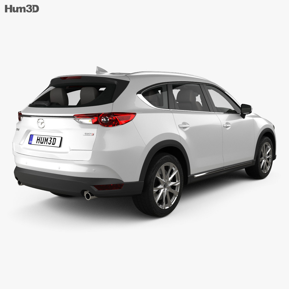 Mazda CX-8 with HQ interior 2017 3d model