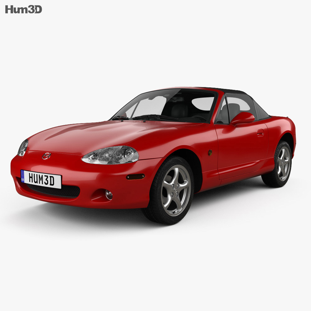 mazda mx 5 convertible with hq interior 1998 3d model. Black Bedroom Furniture Sets. Home Design Ideas