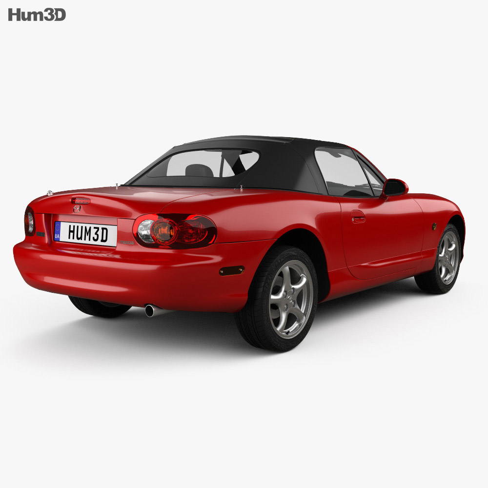 Mazda MX-5 convertible with HQ interior 1998 3d model