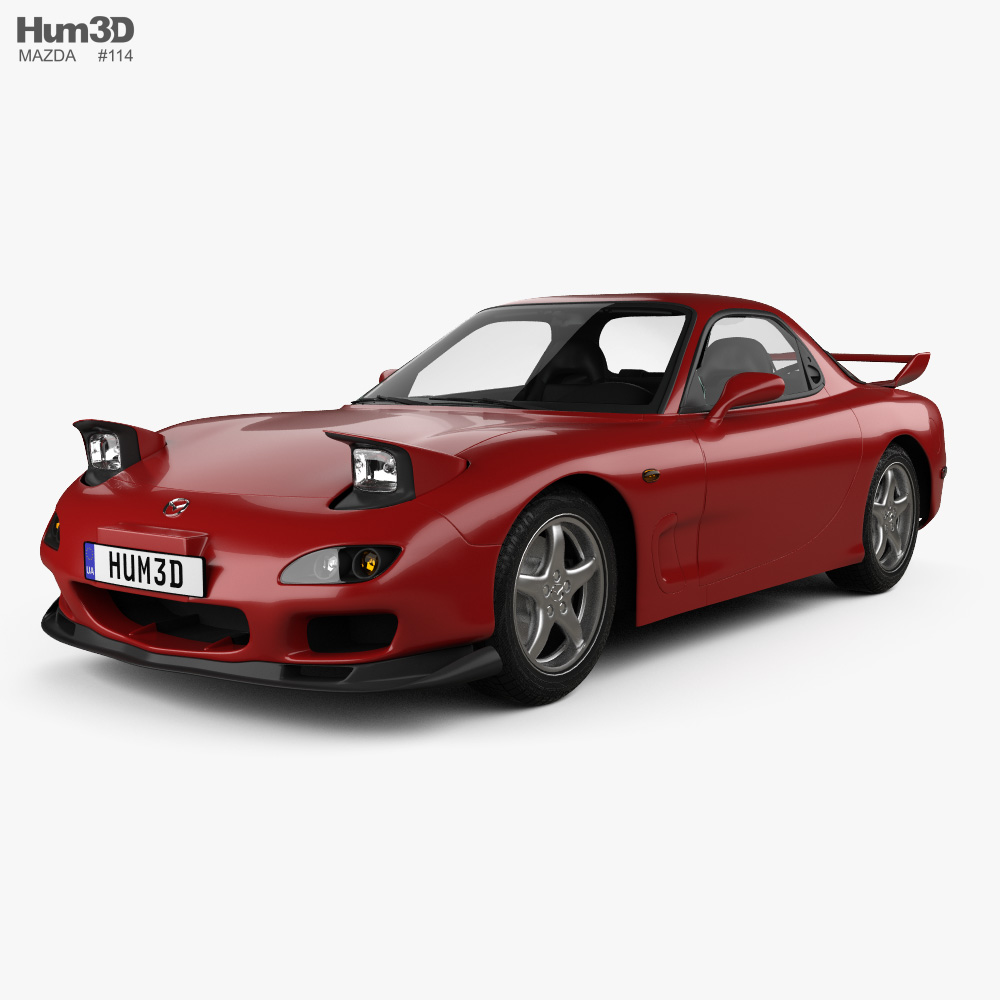 Mazda RX-7 with HQ interior 1992 3d model