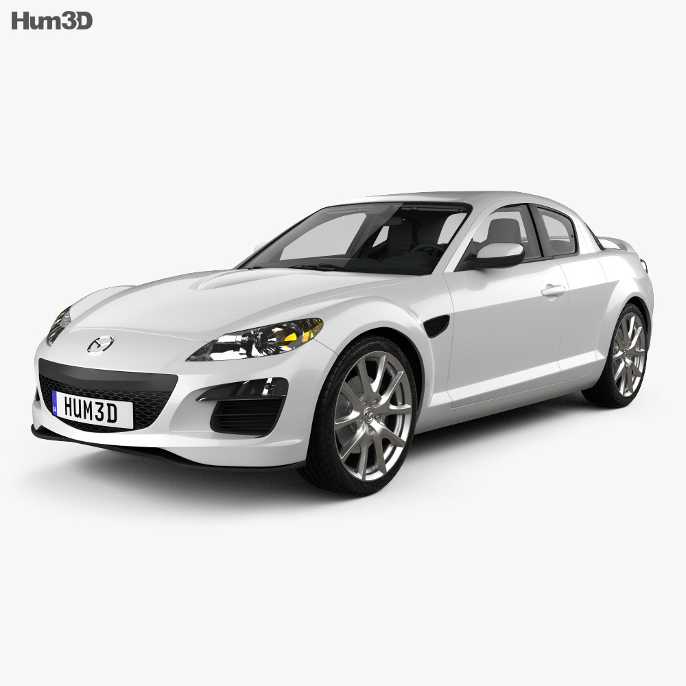 Mazda RX-8 with HQ interior 2008 3d model